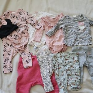 H&M bundle baby girl 10 pieces great condition